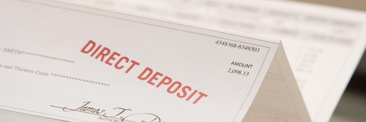 Direct Deposit Image