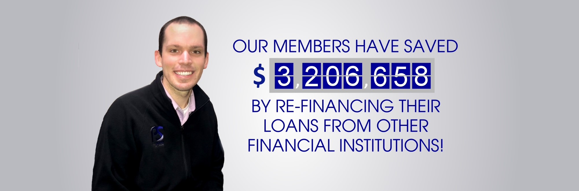 Our members have saved over $3,004,615 by re-financing their debt from other financial institutions