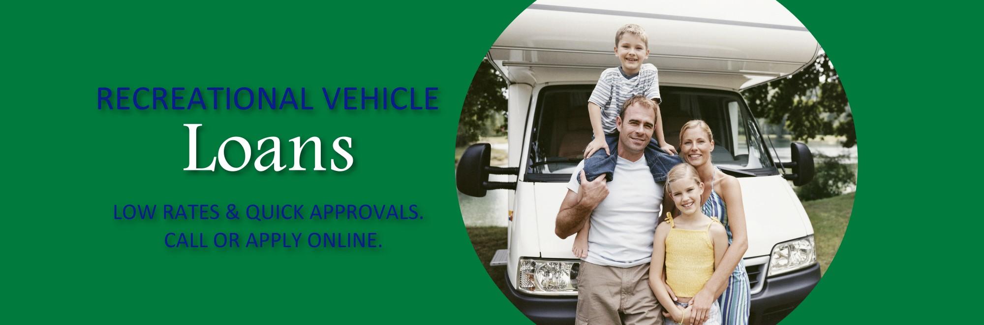 Recreational vehicle loan image