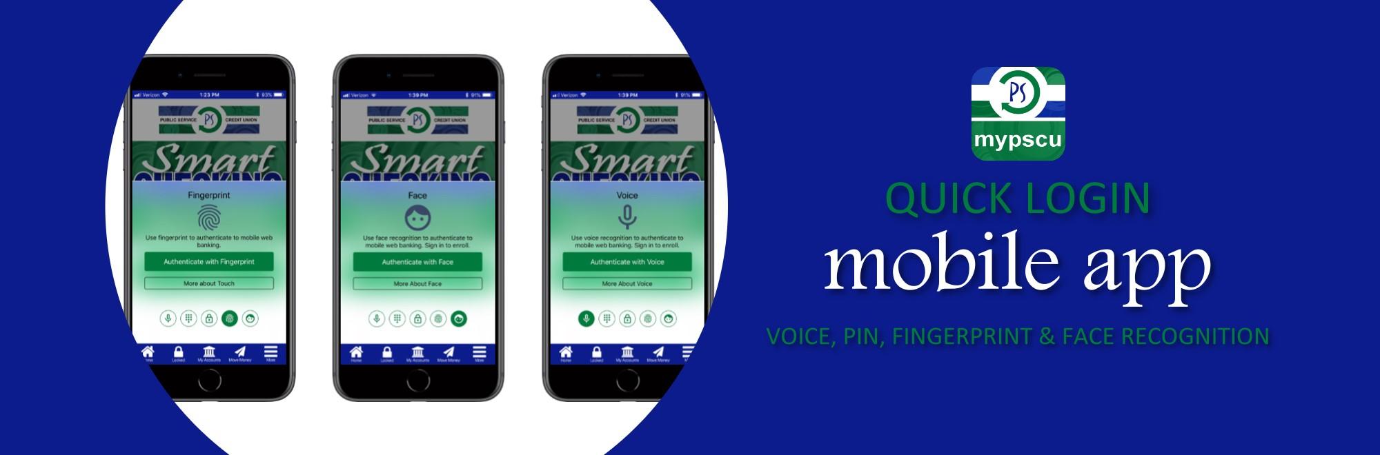 mobile app quick login