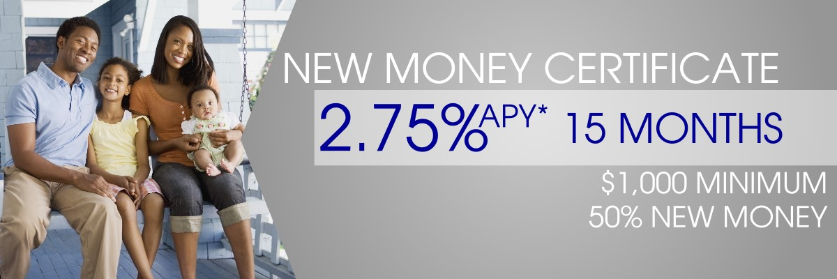 new money certificate 2.75%APY for 15 months image