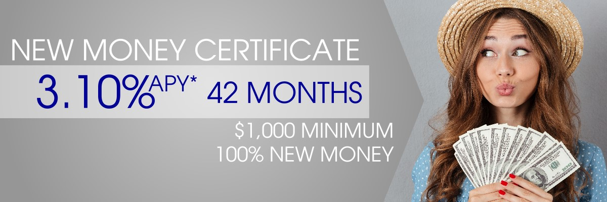 New money certificate 2.75%APY* for 15 months image