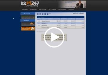 online banking overview video snip