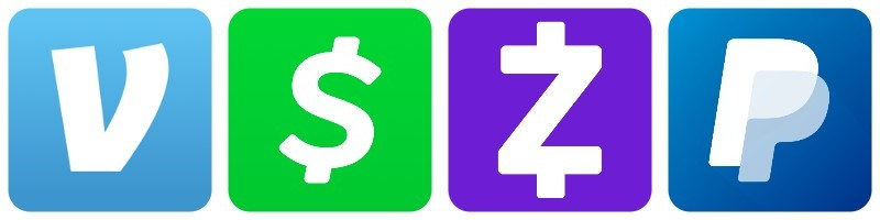 mobile payment apps logos