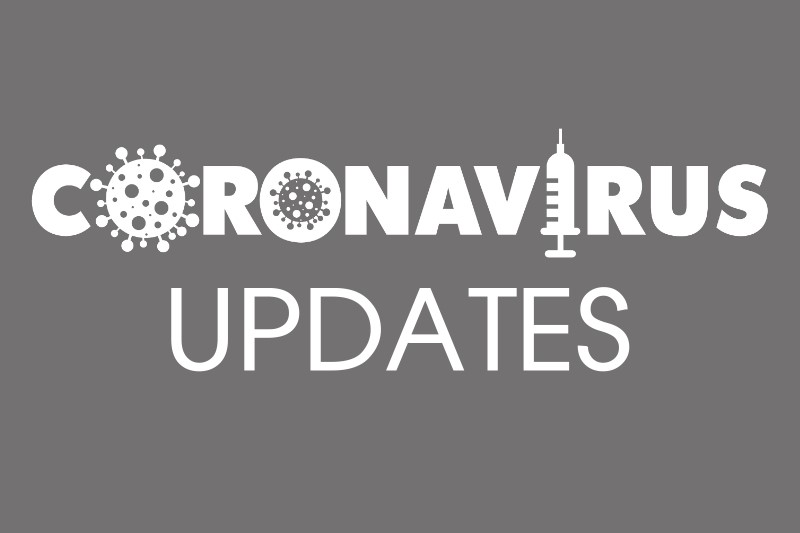 grey background with text coronavirus updates