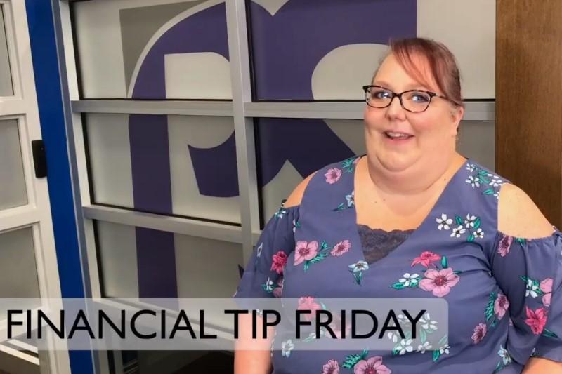 snip of Amanda in her financial tip video