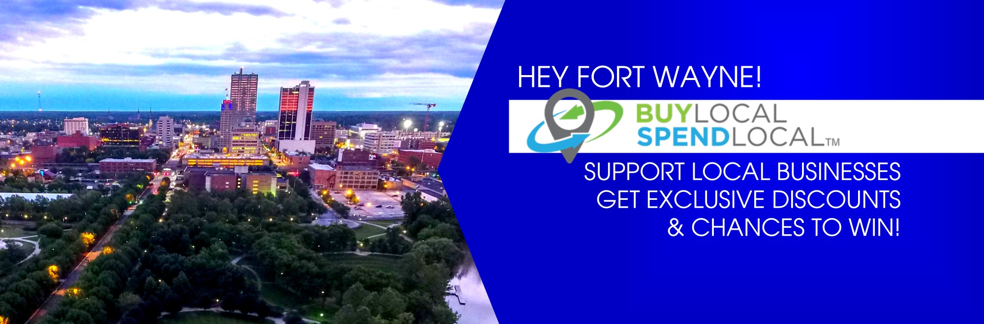 Hey Fort Wayne!!  Buy Local Spend Local.  Support Local Businesses. Get Exclusive Discounts. & Chances to win.
