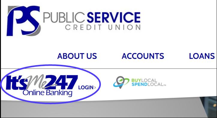 It's ME 247 Online Banking Login Button Image
